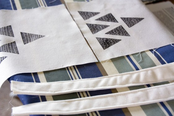 My first attempt begins at block printing then sewing a tote.
