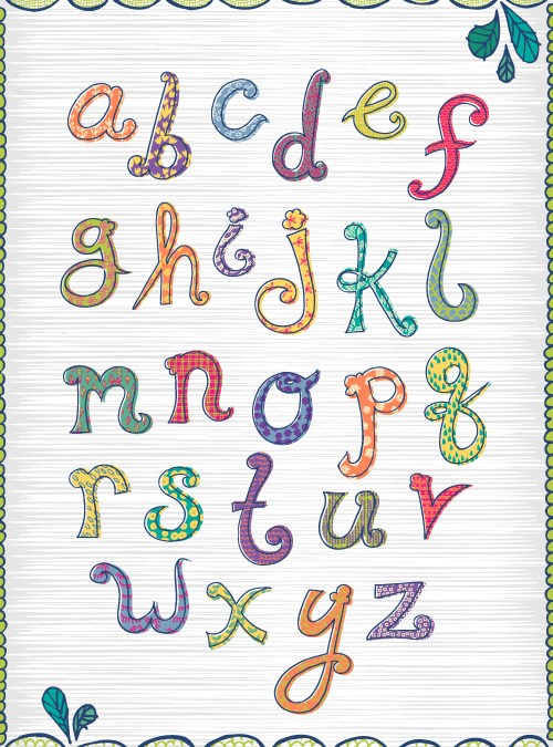Patterned Alphabet