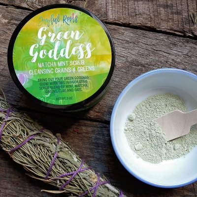 Matcha Mint Cleansing Scrub Green Goddess Gentle Sensitive Skin