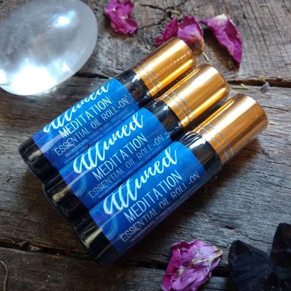 Attuned Meditation Essential Oil Roll On Aromatherapy botanicals