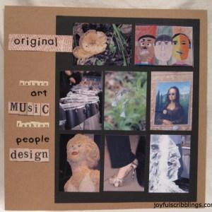 #scrapbook page-originality