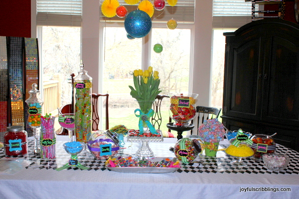 kids candy table