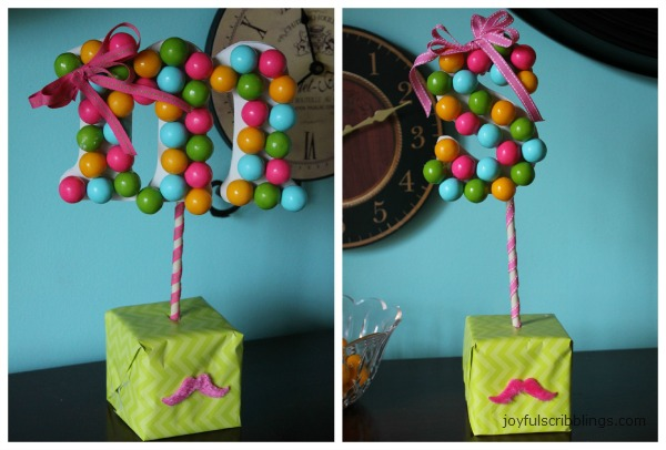 DIY gumball letters