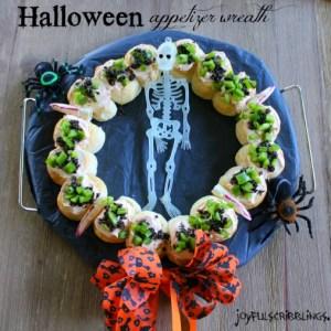 #Halloween appetizer wreath