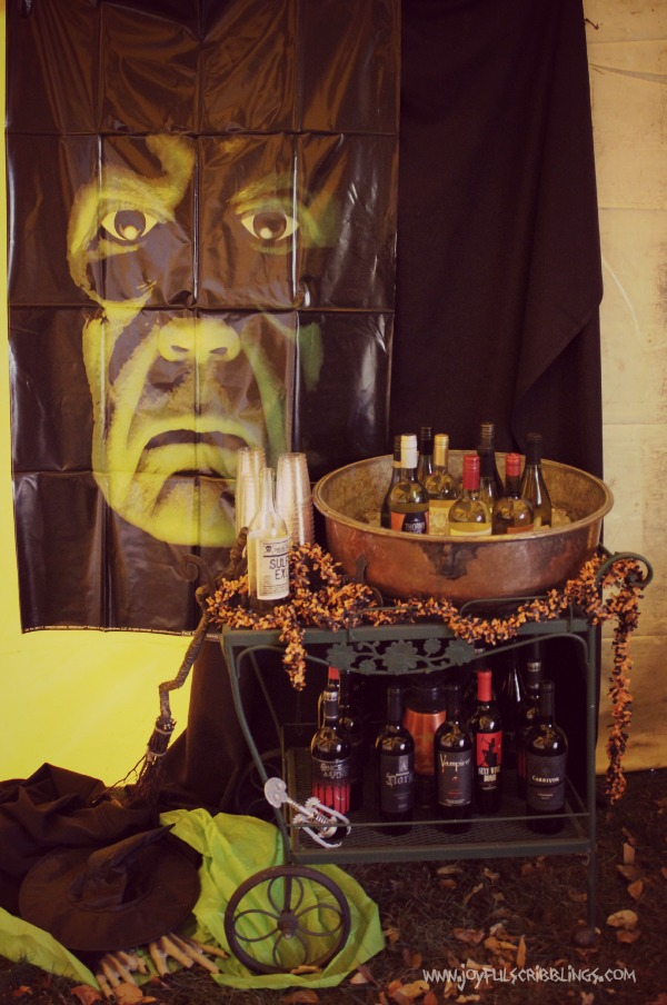 #halloween bar cart