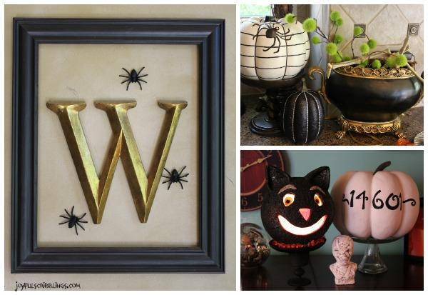 spooky decor collage