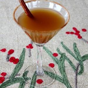 #spiced apple cider martini