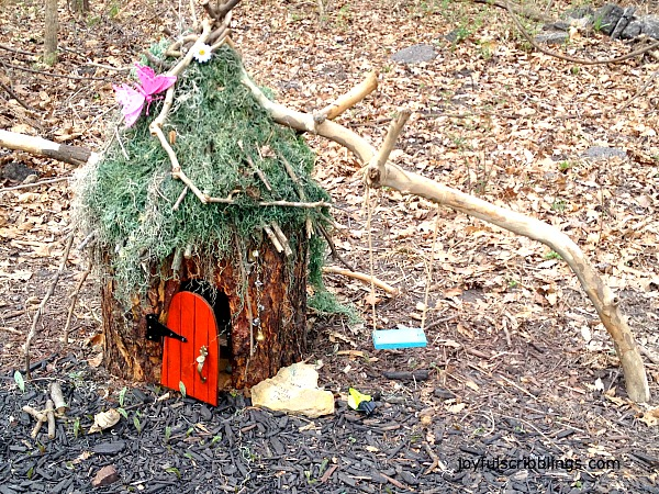 Fairy and Gnome Houses built inside logs