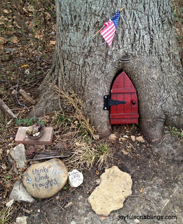 tree stump fairy house