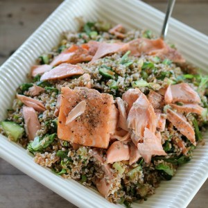#lemon dill bulgur salmon salad