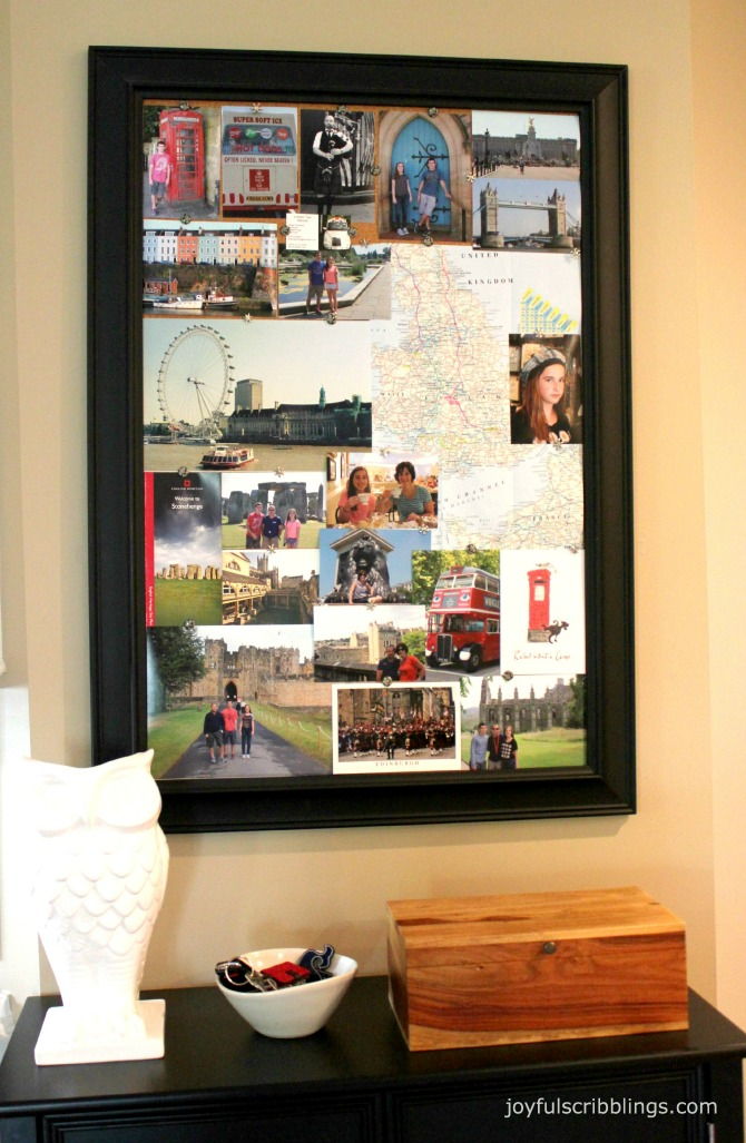 travel memorabilia board
