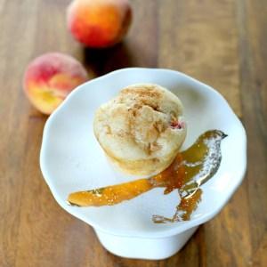 #peach muffins