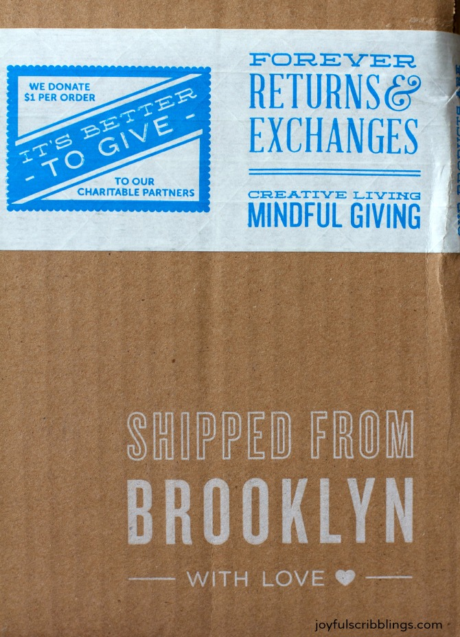 uncommon goods shipping label