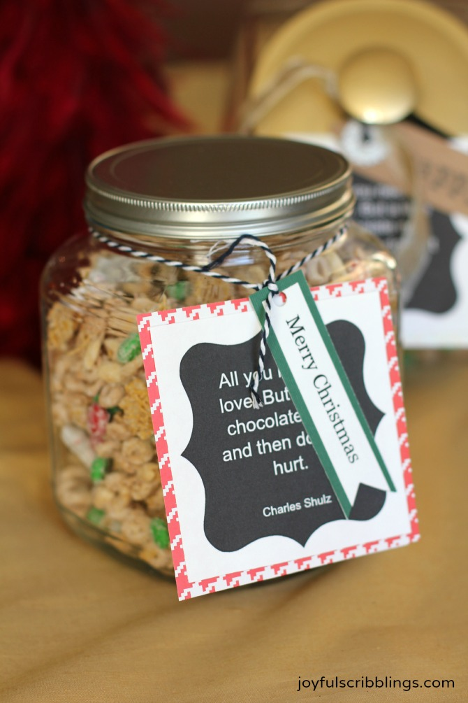 white chocolate snack mix- gifts in a jar