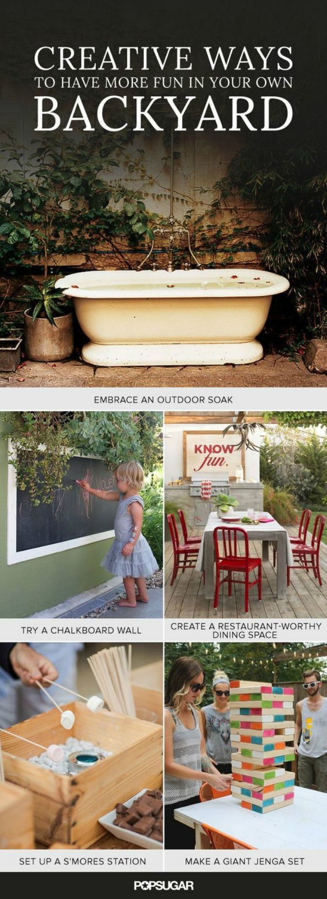 Creative WAys to Have Fun In your own backyard