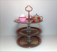 Three Tier Cupcake Stand - DIY Dollar Tree Crafts