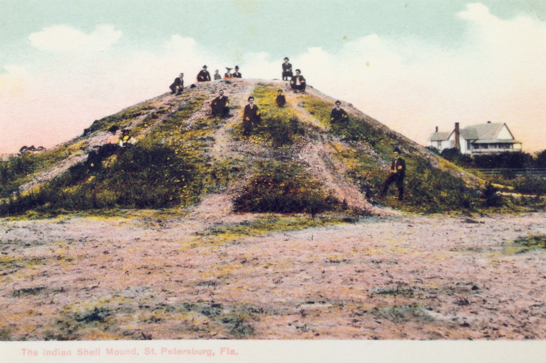 This shell mound or midden was located in the St. Petersburg area where several mounds exist today.