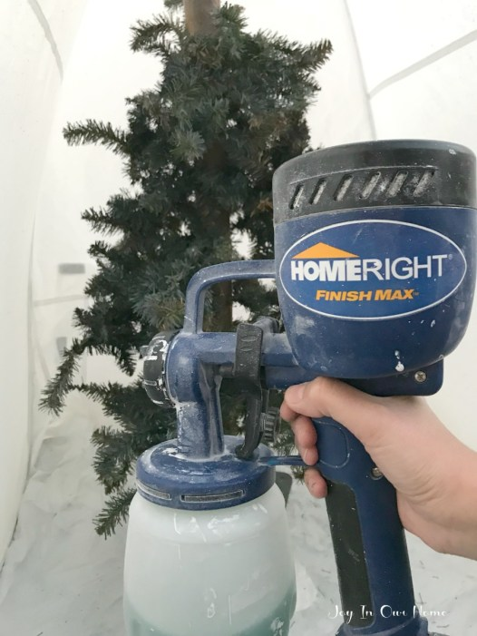Christmas Tree Sprayer.Simple Christmas Tree Update With A Homeright Sprayer Joy