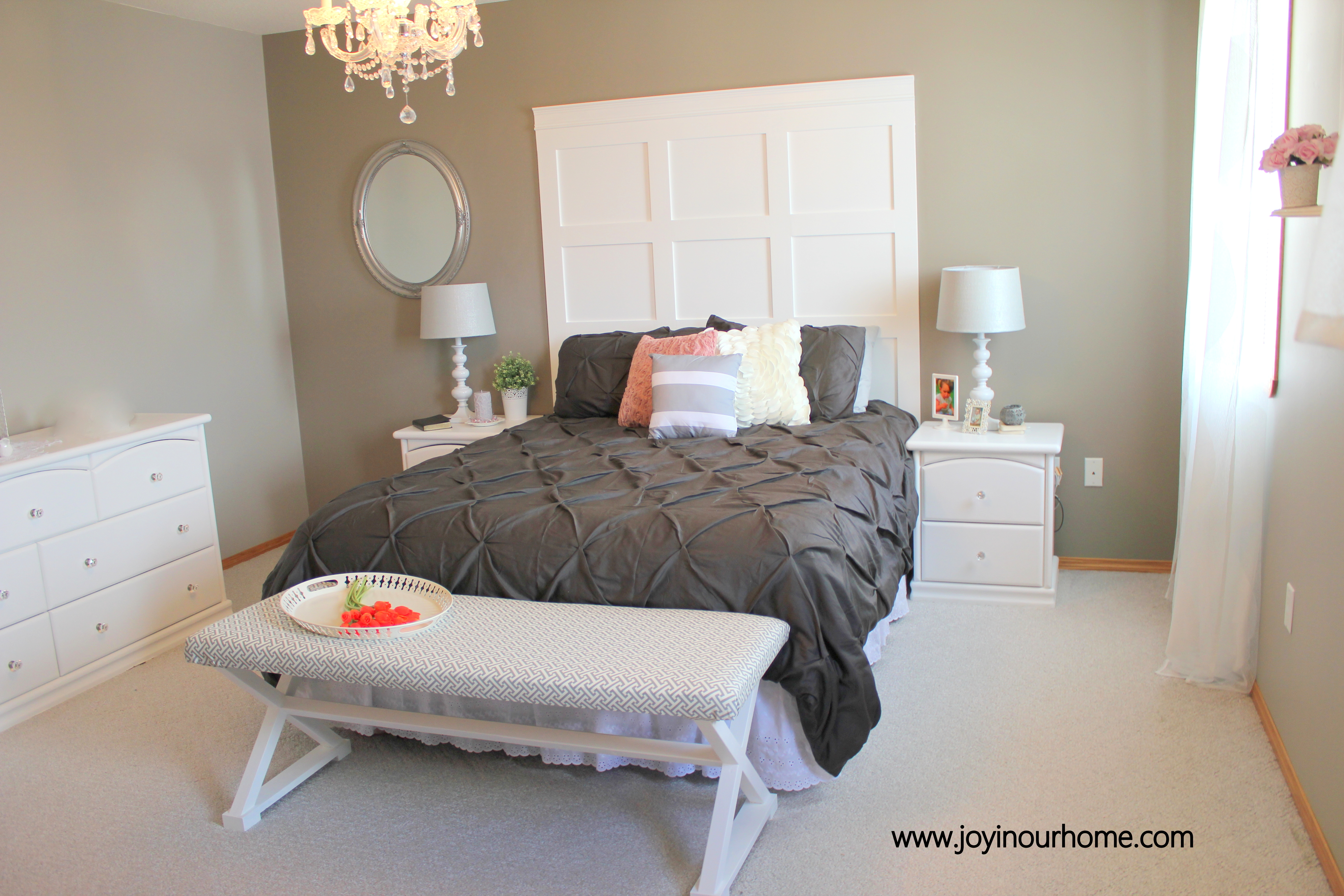 How To Make a Board and Batten Headboard | Joy in Our Home
