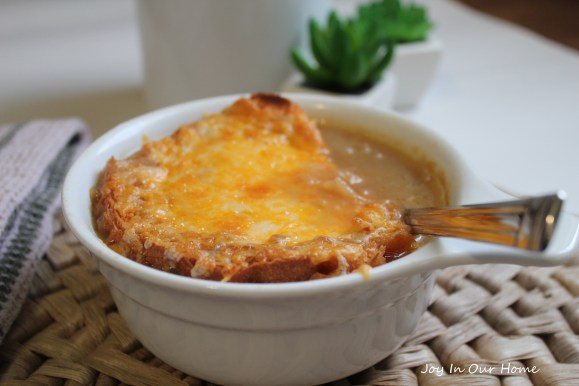French Onion Soup at www.joyinourhome.com