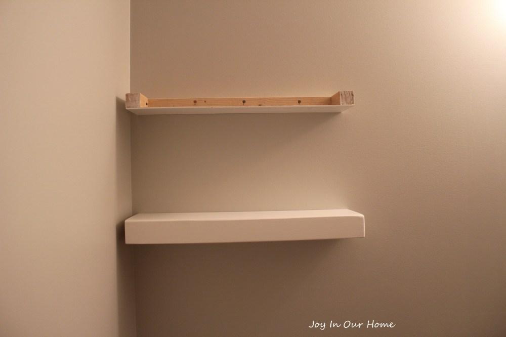 medium resolution of easy diy floating shelves tutorial