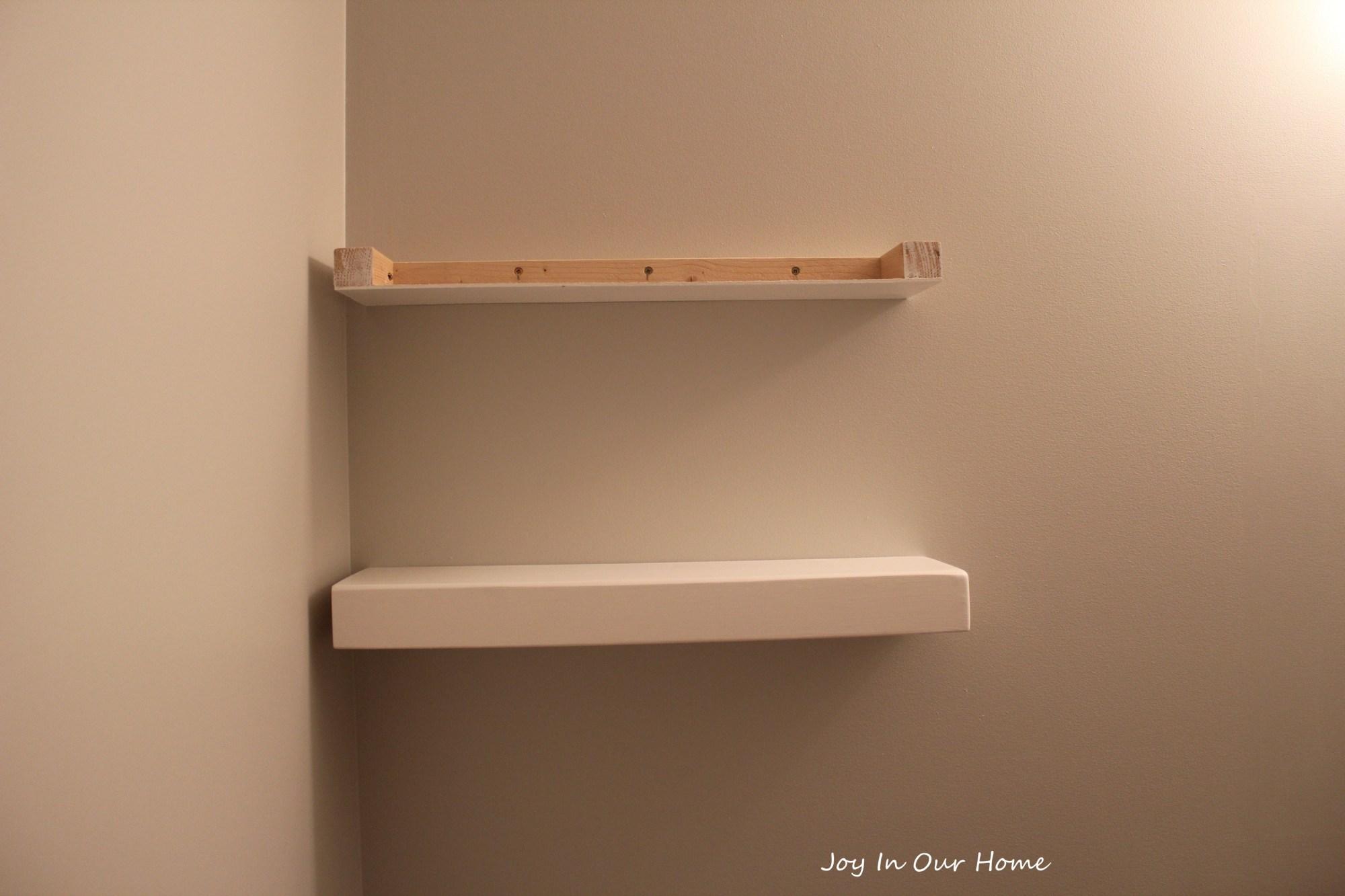 hight resolution of easy diy floating shelves tutorial