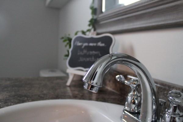 Bathroom Reveal by www.joyinourhome.com