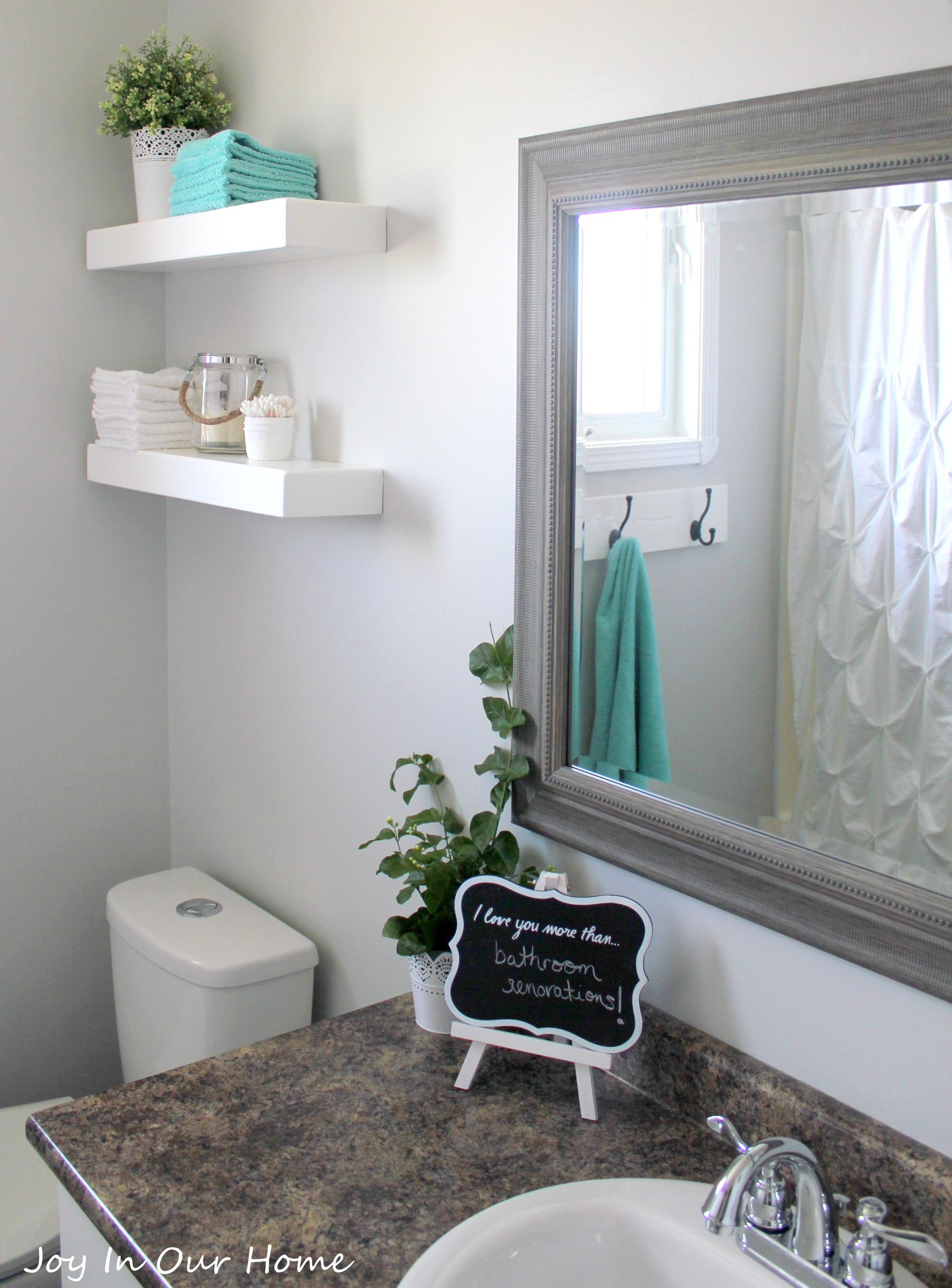 5 Decorating Ideas For Small Bathrooms: Our Bathroom Makeover Product Source