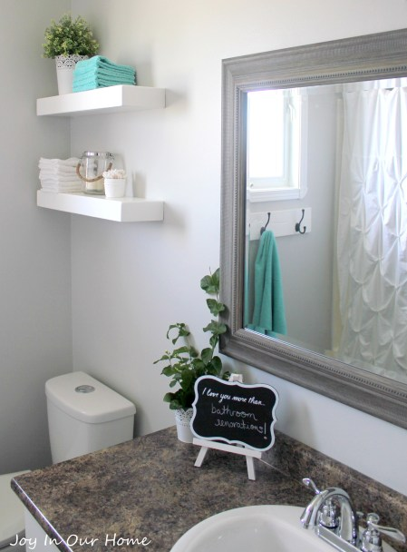 Bathroom Reveal by www.joyinourhome.com