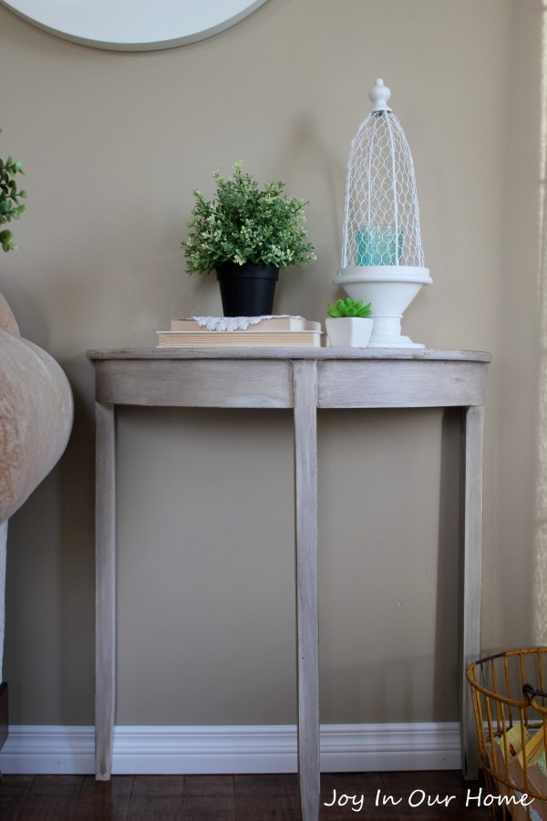 Hallway Table Makeover