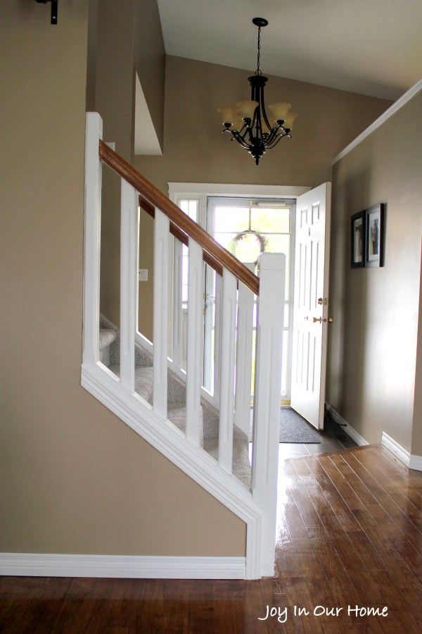 Painted Staircase using Chalkpaint