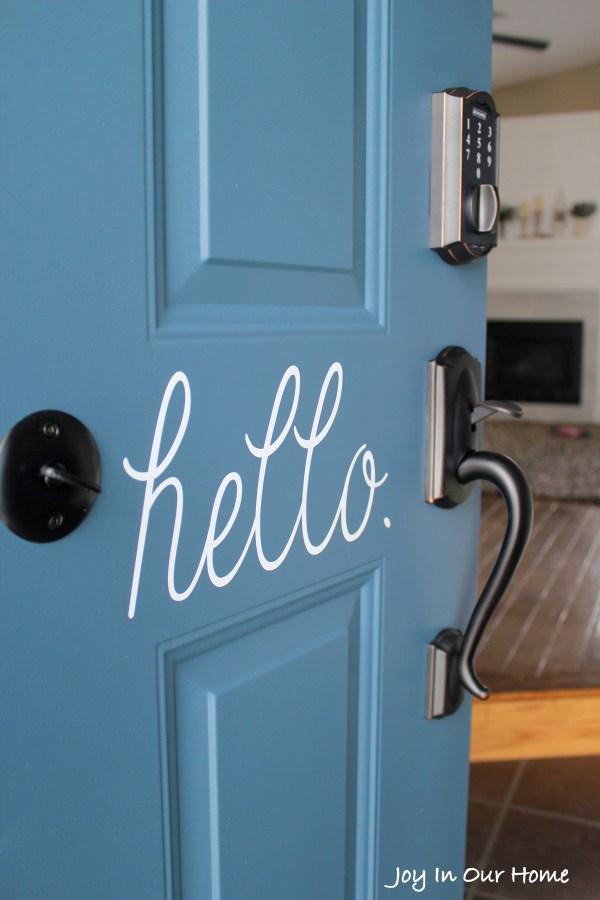 The Easiest Way To Paint a Door from www.joyinourhome.com