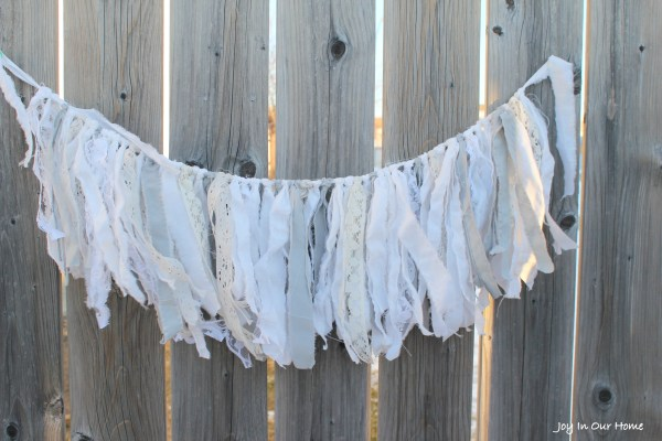 Fabric and Lace Farmhouse Inspired Garland