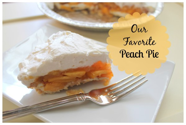 Our Favorite Peach Pie from www.joyinourhome.com