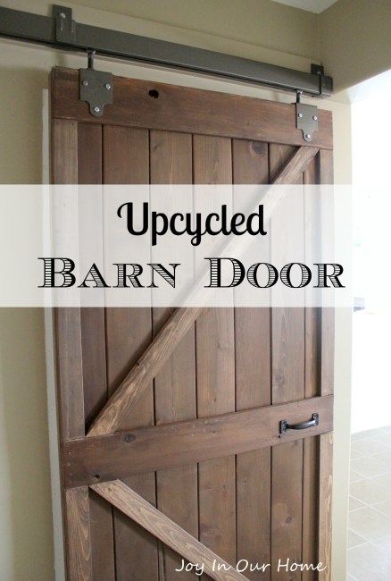 Upcycled Barn Door at www.joyinourhome.com
