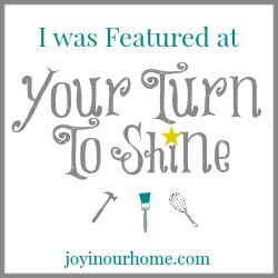 Your Turn To Shine at www.joyinourhome.com