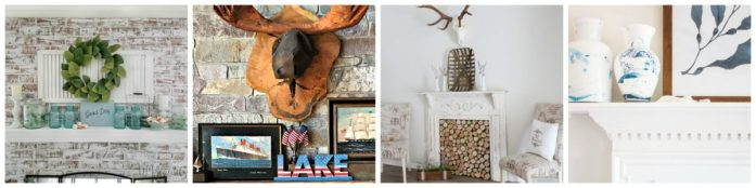 mantle collage 1200x300 Summer Coastal Farmhouse Mantle