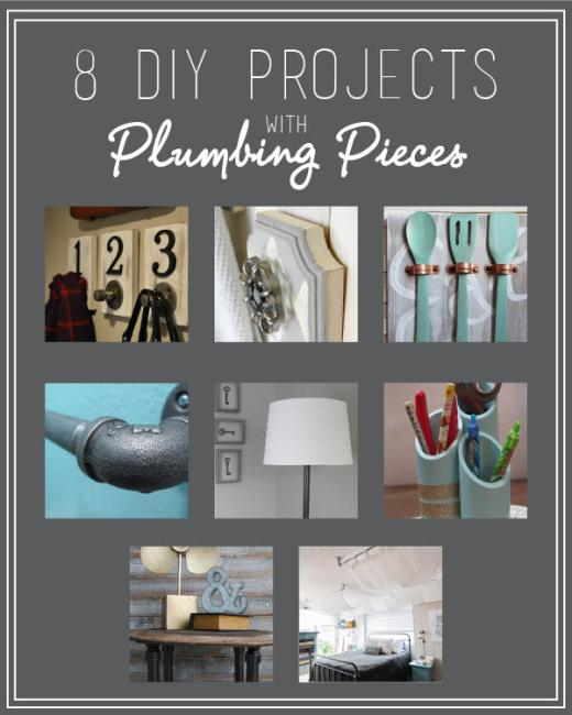 Monthly Challenge with Plumbing Pieces at www.joyinourhome.com