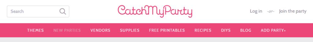 Catch My Party website