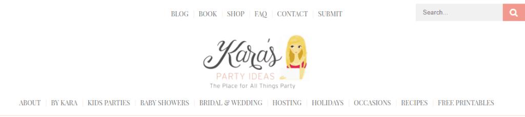 Kara's Party Ideas website
