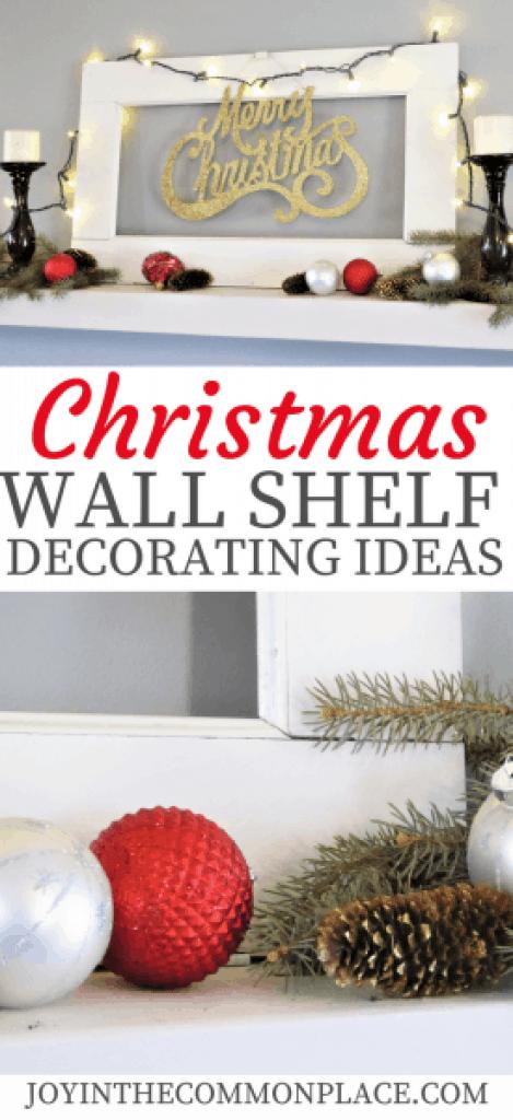 Christmas Wall Shelf Decorating Ideas
