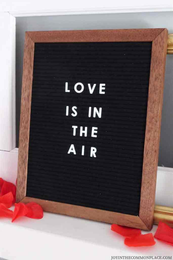 Felt Letter Board Love is in the Air