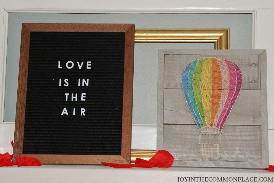 Love is in the Air Sign & Hot Air Balloon