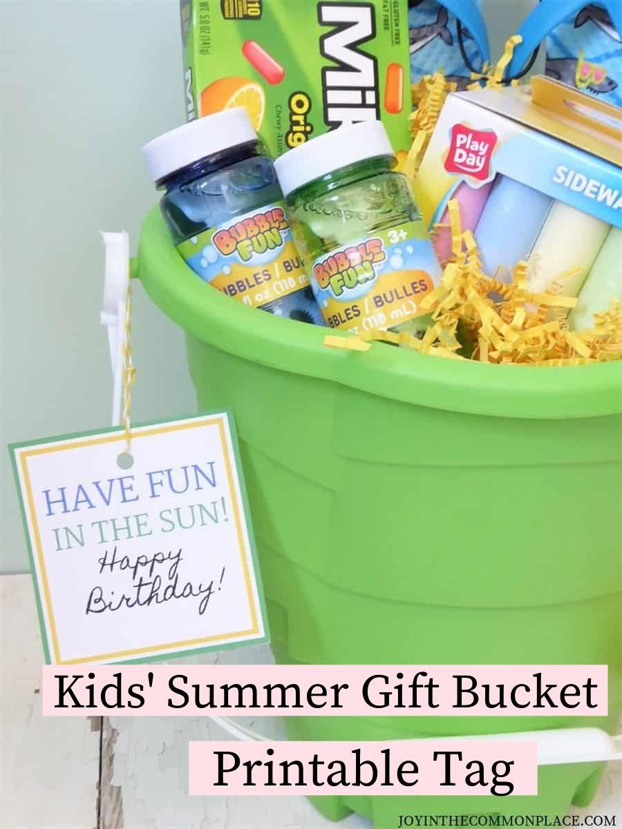 Kids' Summer Gift Bucket Gift Tag