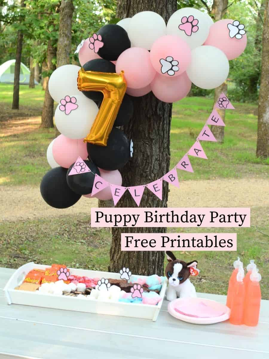 Puppy Birthday Party Free Printables