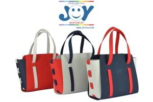 alicudi borsa componibile joy rosso blu e bianco