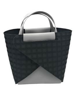 Joy-borse-componibili-vegan-made-in-italy-francesca-grigio-nero-3d-material