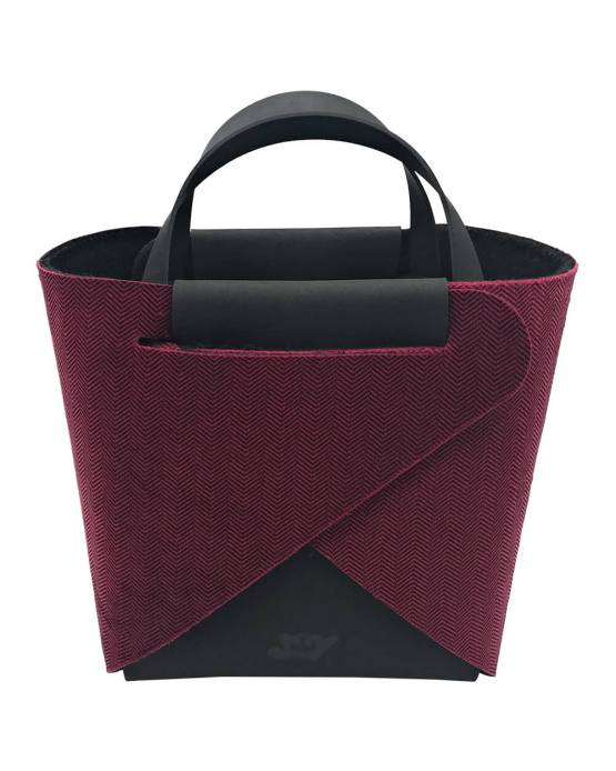 Joy-borse-componibili-vegan-made-in-italy-francesca-nero-louisiana-rosso-material