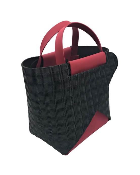 Joy-borse-componibili-vegan-made-in-italy-francesca-rosso-nero-material-3d