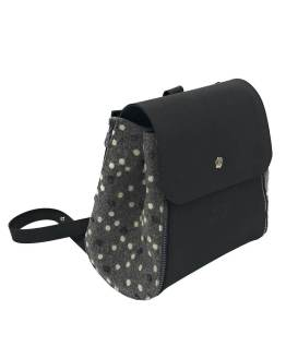 Joy-zaino-componibile-vegan-made-in-italy-roberta-nero-pois-grigio-material